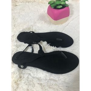 Atmospher All Black Women's Sandals Size 10
